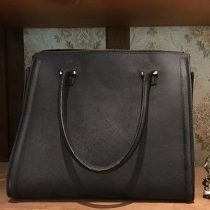 Faux Leather Bag - Lots of pockets inside!